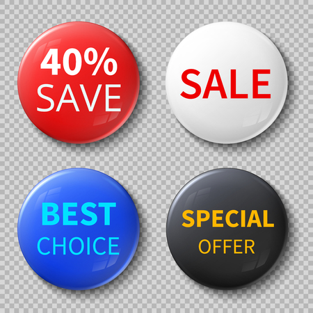 exclusive: Glossy 3d sale circle buttons or badges with exclusive offer promotional text vector mockups.