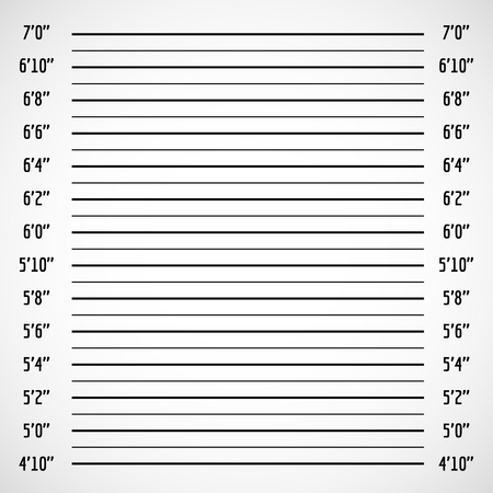 Blank criminal police lineup or mug shot vector background. Police wall for height line up photography illustration 일러스트