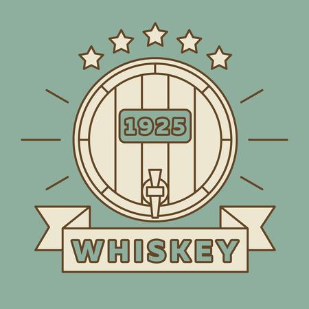 fleurdelis: Whiskey logo design - vintage whisky label. Alcohol vintage banner whiskey. Vector illustration Illustration