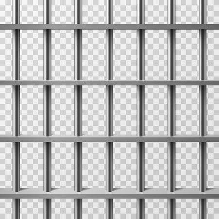 Gevangenis cel bars geïsoleerd. Gevangenis vector achtergrond. Illustratie van gevangenis kooi metaal