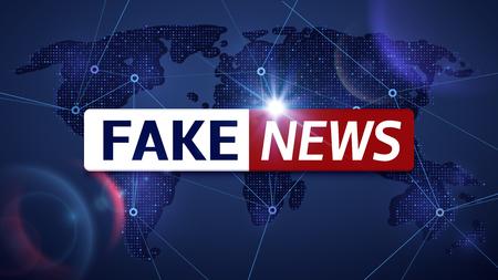Fake news vector broadcasting television background. Fake news television broadcast screen illustration