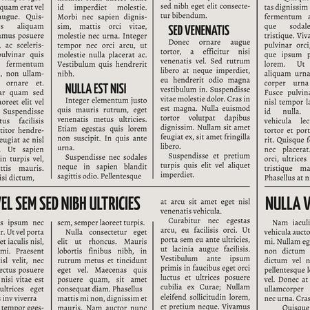 Vintage newspaper print vector seamless pattern. Seamless background newspaper illustration