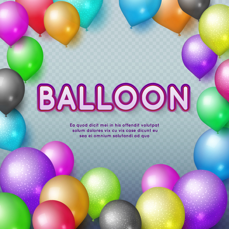 kids birthday party: Anniversary and happy birthday party vector background with colorful balloons. Birthday balloon colorful illustration