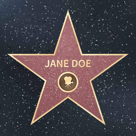 movie actor celebrity walk of fame star. Vector Illustration. Famous popular talent star Illustration