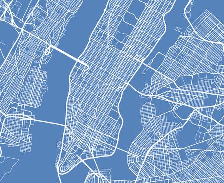 Aerial view USA New York city vector street map. City street aerial map new york illustration