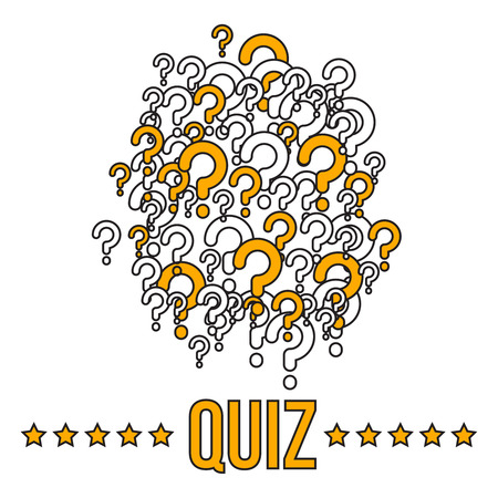 Quiz bannerr template with question marks Illustration