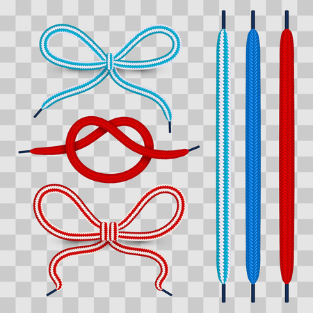 Colorful shoelaces vector illustration