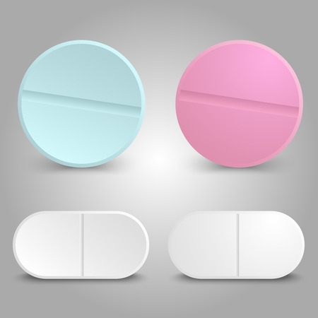Realistic drug design - medicinal pills set