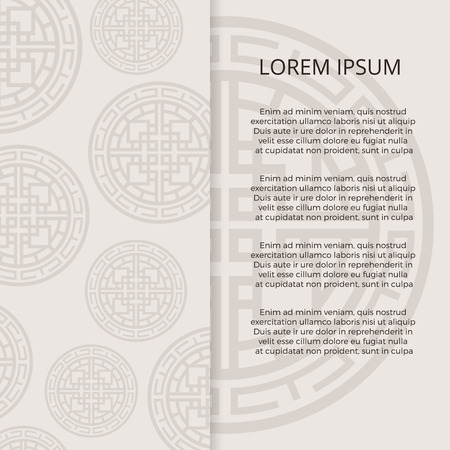 Traditional korean, japanese, chinese oriental ornaments banner design