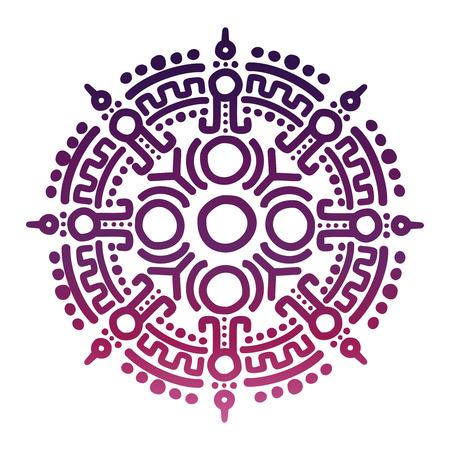 Colorful ancient mexican mythology symbol Illustration