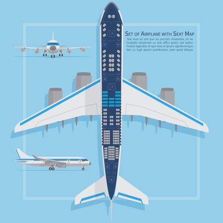 plan d & # 39 ; avion vue de dessus . avion d & # 39 ; affaires et de l & # 39 ; évolution des entreprises . vue