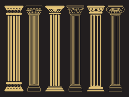 Eleganti colonne romane classiche Archivio Fotografico - 94058288