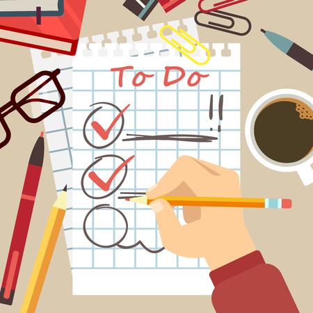 Flat organize concept - to do list