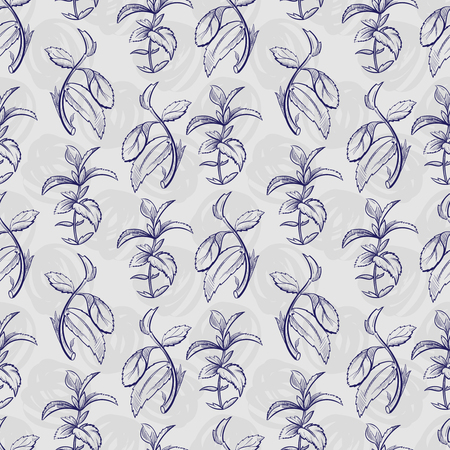 Pen sketch peppermint pattern