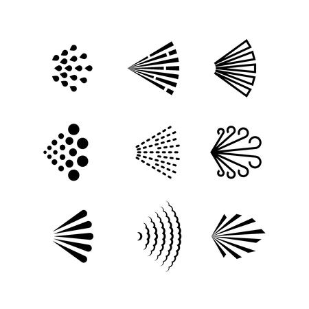 Aerosol spray vector black icons