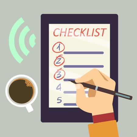Journal mit Checkliste Konzept Vektor