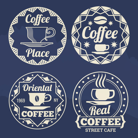 Stylish coffee labels vector design for cafe, shop, market Imagens - 97121163