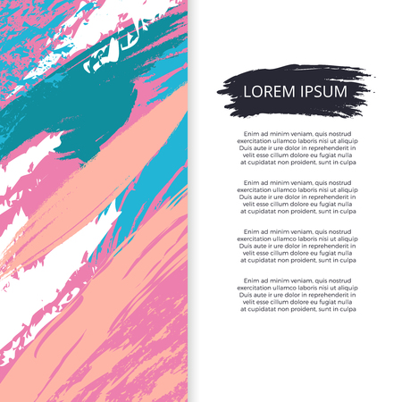 Bright abstract grunge poster or banner vector design