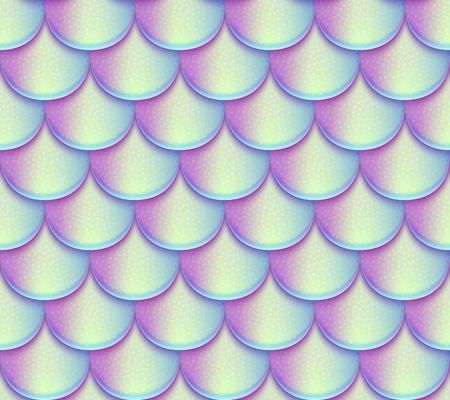 Sirena de cola escalas patrón de vector transparente. brillante holográfica de pescado de textura Ilustración de vector