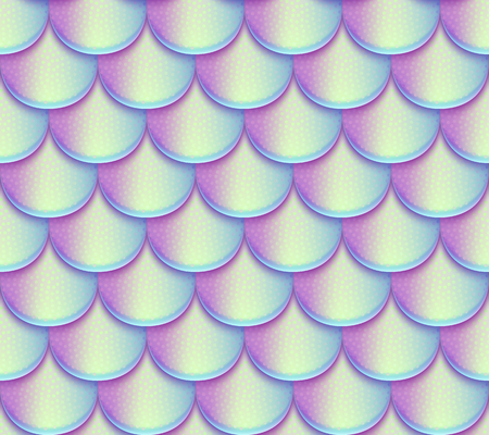 Mermaid tail scales vector seamless pattern. Holographic bright fish texture Illustration