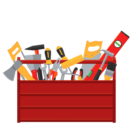 Repair and construction tools vector concept Stockfoto