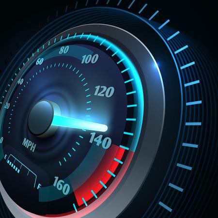 Compteur de vitesse de voiture de sport futuriste. Fond de vecteur de course de vitesse abstraite Vecteurs