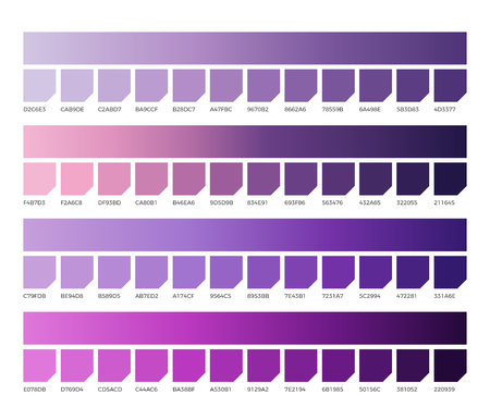 Ultra violet pantone color vector swatches. Illustration