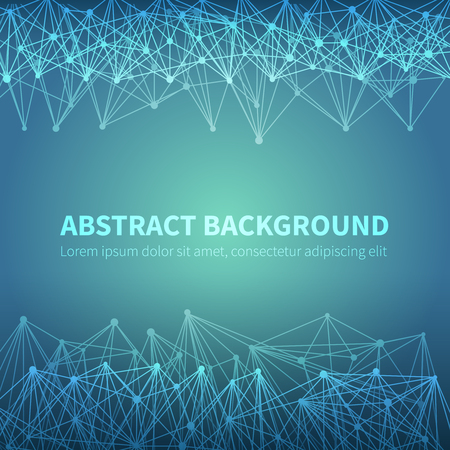 Abstract geometric scientific background with molecular structure