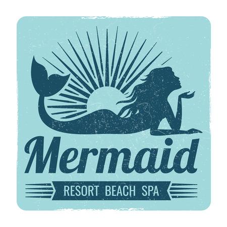 Meerjungfrau Logo Design Standard-Bild - 99702956