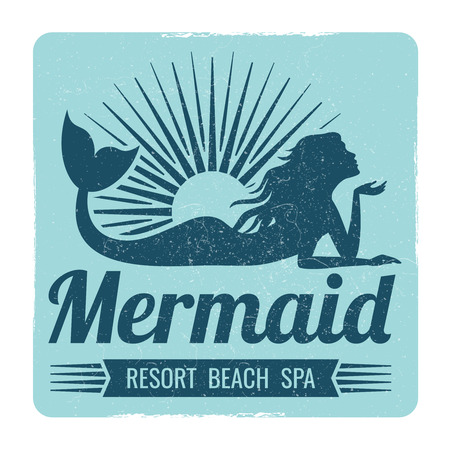 Mermaid logo design Stockfoto