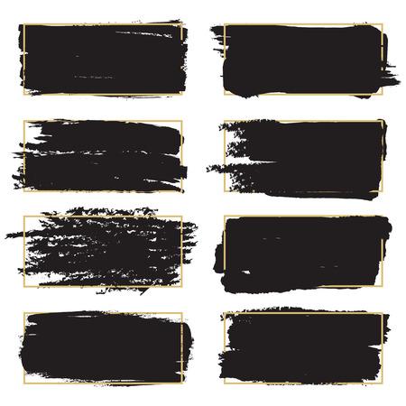 Set of brush strokes icons
