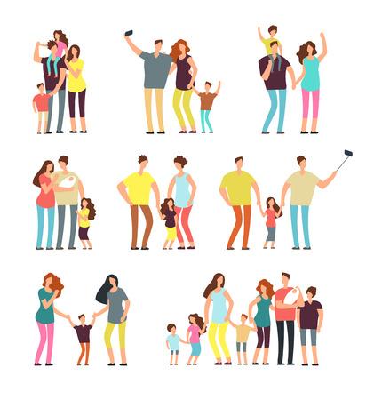 Happy family groups set design