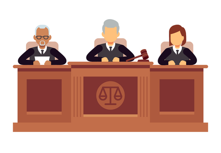 Federal supreme court with judges. Jurisprudence and law vector concept Zdjęcie Seryjne - 102095167