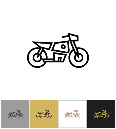 Motorcycle icon, electric bike sign or motorbike symbol Illustration