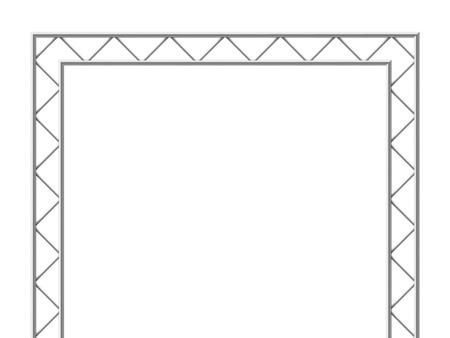 Steel truss girder 3d construction equipment. Metal framework isolated vector illustration. Framework steel, schematic material prefabricated project Ilustração Vetorial