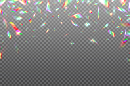 Hologram glitch rainbow background. Crystal shining metallic iridescent foil isolated. Hologram effect vector illustration. Hologram vibrant effect, gradient bright iridescent Illustration