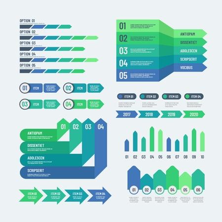 Éléments infographiques. Graphiques modernes graphiques d'investissement diagrammes d'informations Rapport Web info diagramme de modèle de vecteur graphique et graphique, illustration graphique de stratégie de plan Vecteurs