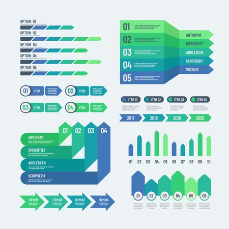 Infographic elements. Modern graphs investment charts info diagrams. Web report info graphic vector template diagram and chart, plan strategy graphic illustration Vektoros illusztráció