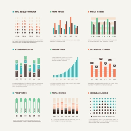 Infographic. Workflow layout marketing diagram. Statistic charts and stock infocharts. Abstract infographics vector set. Illustration of graph and infochart, chart and infographic data Illustration