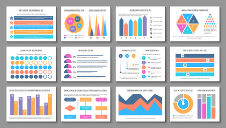 Infographic layout. Business presentation chart graph, corporate marketing report. Multipurpose finance infographics vector elements. Diagram finance and graphic chart for business illustration