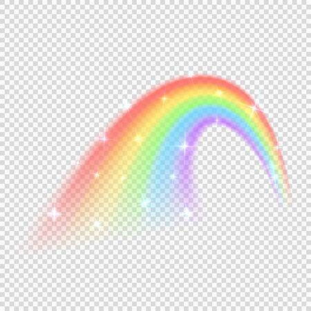 Shine rainbow vector isolated on transparent background. Illustration of rainbow colorful shine, nature light 免版税图像 - 127869274
