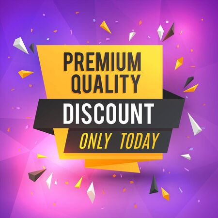 Discount poster template. Vector sale background. Trendy special sale illustration. Discount promotion, poster with special sale Ilustração