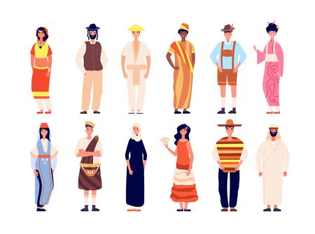 Multiethnic people. Multicultural group, crowd diverse person together. Different nationality society. Modern community vector illustration. Multicultural and multiethnic people, nationality character Vetores
