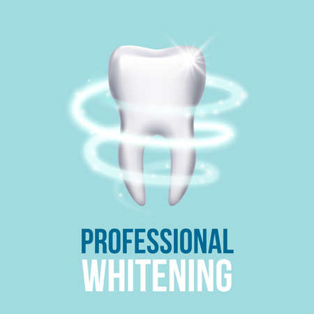 Teeth protection, tooth care dental medical vector concept