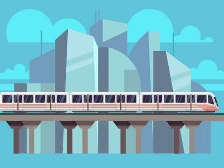 Sky Train, Subway Concept Vector 向量圖像