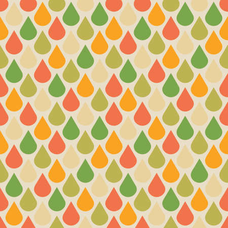 Vector drops seamless pattern in fall colors