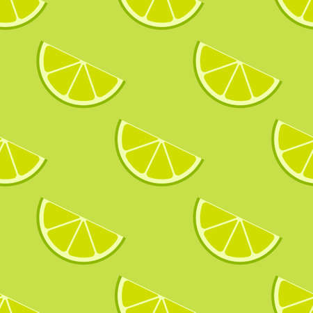 Vector bright lime slices seamless background