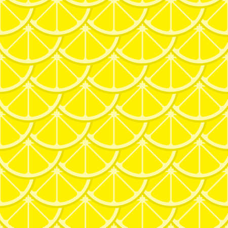 Vector bright lemon slices seamless pattern