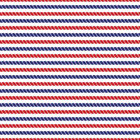 Striped navy and red ropes bright seamless background