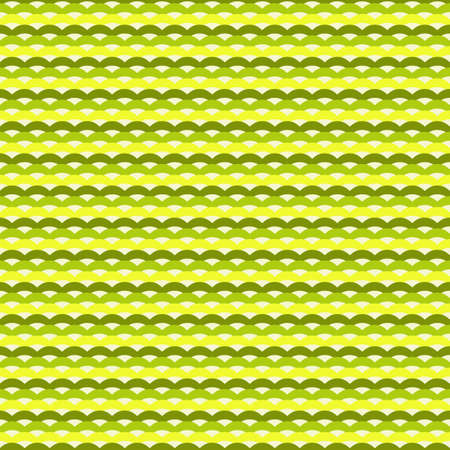Green and yellow waves seamless pattern